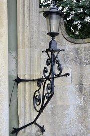 Large Antique Cast Iron Exterior Lantern U952