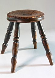 Mid 19th Century Low Country Stool. U627
