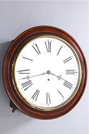 Oak Cased Victorian Fusee Wall Clock