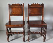 Pair of 17th Century Oak Side Chairs. T394
