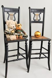 Pair of 19th Century Deportment/Correction Chairs