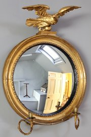 Regency Convex Gilt Wall Mirror. T728
