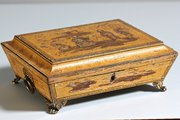 Regency Penwork and Lacquered Box. T675