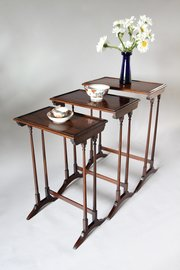 Regency Rosewood Nest of Tables V337