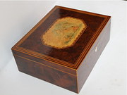 Regency Yew-wood Fitted Sewing Box