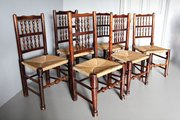 Set 6 19th Century Spindle Back Dining Chairs