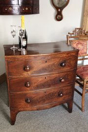 Small 19th Century Mahogany Chest of Drawers V22