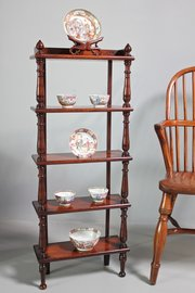 Small Antique 5 Tiered Display Shelves. U358