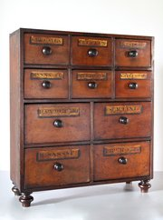 Victorian Apothecary Bank of Drawers V27