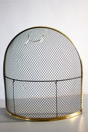 Victorian Brass and Mesh Fire Guard
