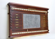 Victorian Mahogany Life Pool Scoreboard