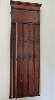Victorian Mahogany Snooker Cue Wall Cabinet/Cupboard