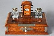 Victorian Oak Desk Stand with Calendar. U635