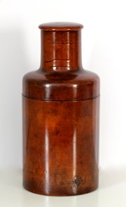 Victorian Treen Bottle Holder.