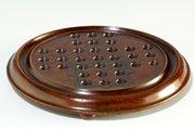 Victorian mahogany Solitaire Game Board. U32