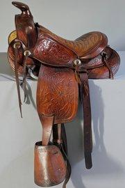 Vintage American Western Saddle. T783