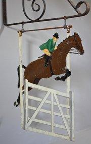Vintage Equestrian Hanging Sign. U113