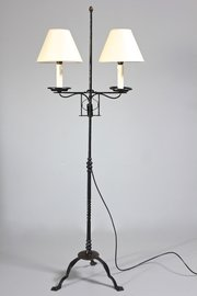 Vintage Iron Adjustable Floor Lamp.