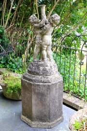 Vintage Stone Fountain with Cherubs. T81