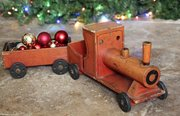 Vintage Wooden Toy Steam Engine and Truck V385