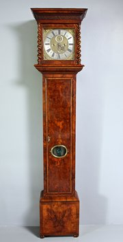 Walnut Cased Chris Gould Longcase Clock.