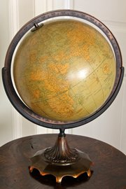Weber Costello Co. 12 inch Political Globe. U344