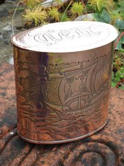 Newlyn School Tea Caddy  Herbe