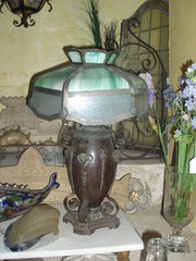 1920's Millers bronze oil lamp can be wired