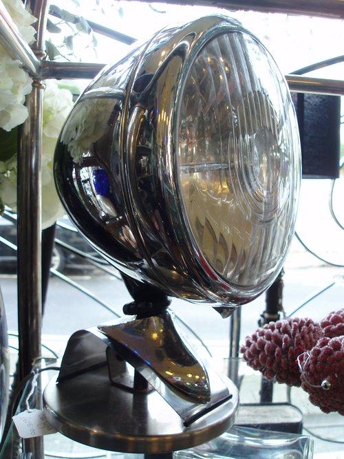 1930's Car Headlamp Converted To Light