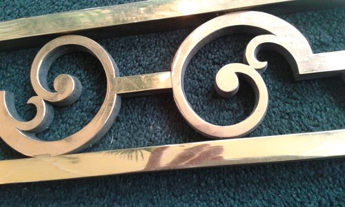 2 x solid Brass panels