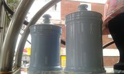 Blue chemist jars