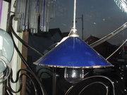 Blue enamel shade light