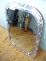 Boat window mirror polished metal