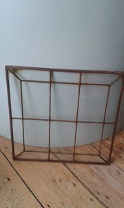 Bronze frame glass panels x 12