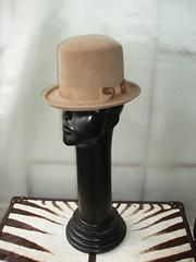 Camel fur felt top hat