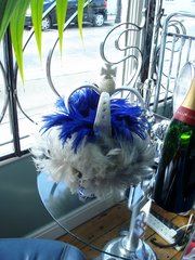 Crown beaded and feathered