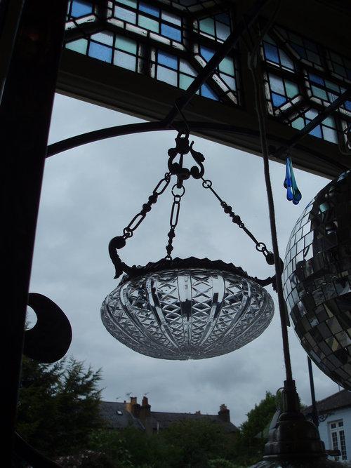 Faraday crystal glass and nickel light