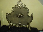 French  1900's Brass fire screen