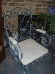 French metal 3 piece suite chairs / sofa