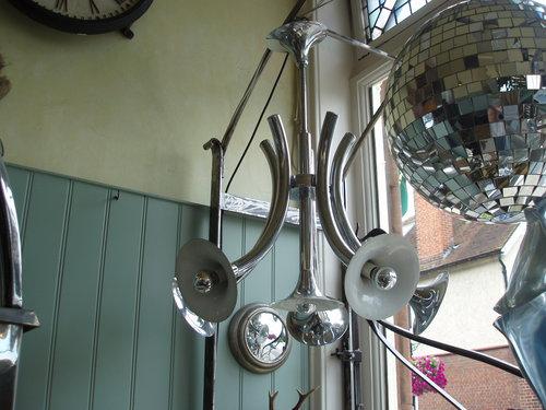 Italian 1960's chrome chandelier