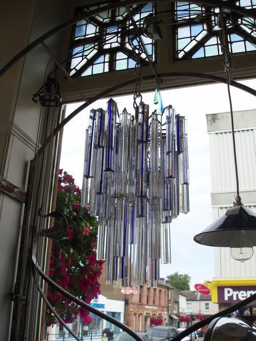 Italian 1960's crstal rod chandelier