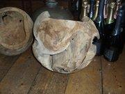 Knarled sphere wooden bowls
