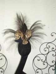 Leopard orchid and feather veil sculpt