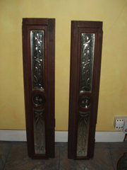 Mahogany mirrored panels