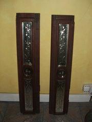 Mahogany mirrored panels