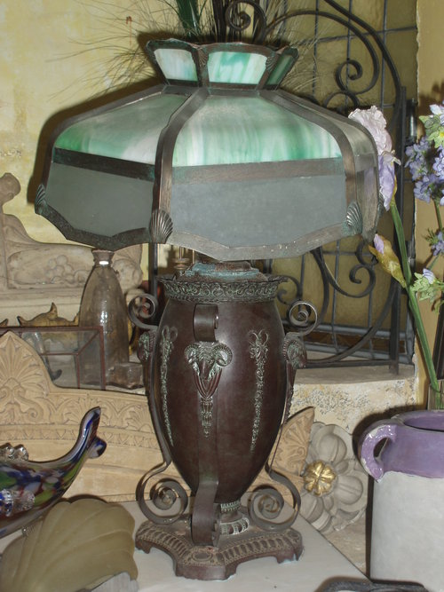 Miller bronze gas lamp 1920's