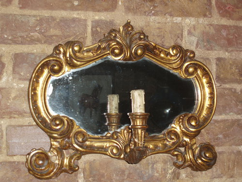 Mirrored pair of wall lights