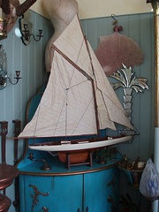Model wooden Columbia ship
