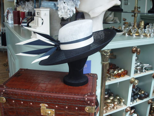 Navy / White and Cream hat