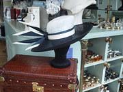 Navy / White and Cream hat